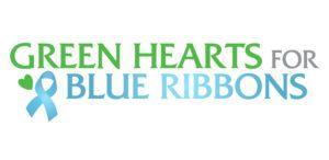 Green Ribbons Blue Hearts